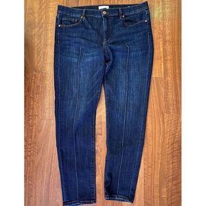 LOFT Pintuck Skinny Jeans